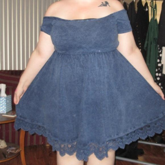 Plus Size ASOS Acid Wash Skater Dress